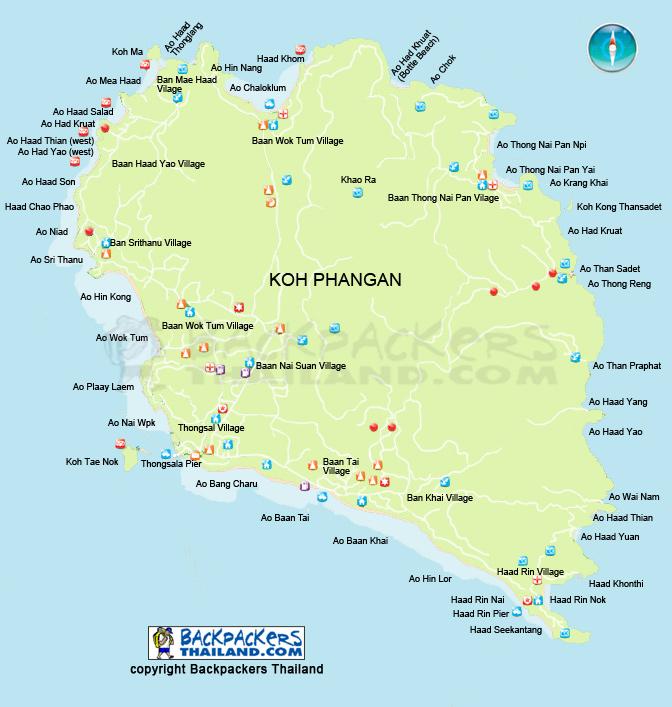 Koh-Phangan-Map